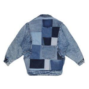 Reworked Vintage Acid Wash Down Jacket